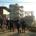 Les équipes de police se tenaient prêtes en ce jour de grève