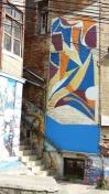 Les œuvres des artistes sont directement peintes sur les murs