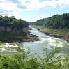 En aval, le Rio Iguazu retrouve son calme